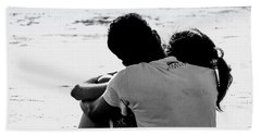 Couple On Beach Beach Towel