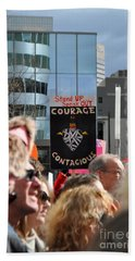 Courage Is Contagious Beach Towel