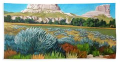 Courthouse And Jail Rocks Acrylic Beach Towel