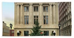Courthouse At Christmas Beach Towel