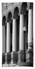 Beach Towel featuring the photograph Courthouse Columns by Richard Rizzo