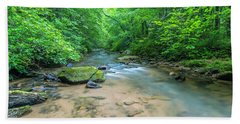 Beach Towel featuring the photograph Cove Creek Panorama by Ranjay Mitra