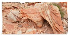 Beach Towel featuring the photograph Cove Of Sandstone Shapes In Valley Of Fire by Ray Mathis