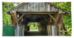 Covered Bridge Hdr Beach Towel