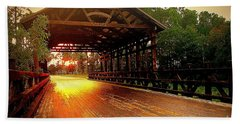 Covered Bridge Beach Towel by Shelia Kempf