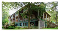 Beach Sheet featuring the photograph Covewood Lodge On Big Moose Lake by David Patterson