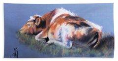 Cow Dreams Beach Sheet