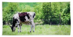 Cow Grazing Beach Towel