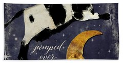 Cow Jumped Over The Moon Beach Towel