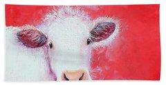 Cow Painting - Charolais Beach Sheet