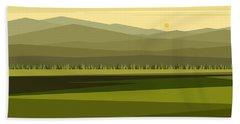 Cow Pass Spring Green Beach Sheet