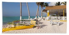Beach Towel featuring the photograph Cow Wreck Bay Beach Bar 2 by Eric Glaser