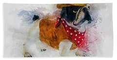Cowboy Bulldog Beach Sheet