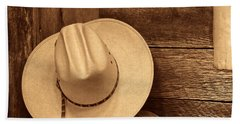 Cowboy Hat In Town Beach Sheet