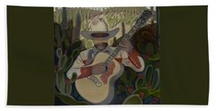 Cowboy In The Cactus Beach Towel