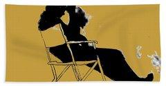 Cowboy Silhouette Beach Towel