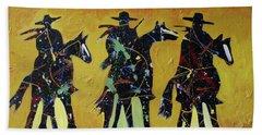 Cowboy Sundown Beach Sheet