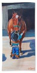 Cowboy's First Love Beach Towel
