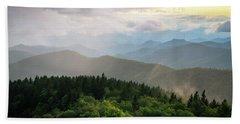 Cowee Mountain Sunset 4 Beach Sheet