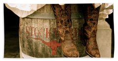 Cowgirl Boots Beach Towel