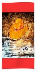 Cowgirl Hat Beach Sheet