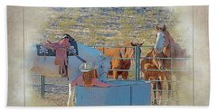 Cowgirl Spa 5p Of 6 Beach Towel