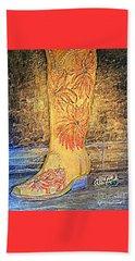 Cowgirl Western Boot Beach Towel