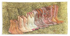 Cowgirls And Boots Beach Towel