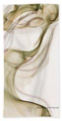 Coy Lady In Hat Swirls Beach Towel by Vicki Ferrari