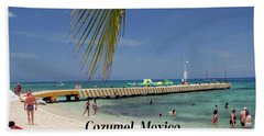 Beach Towel featuring the photograph Cozumel Mexico by Gary Wonning