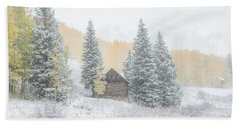 Cozy Cabin Beach Towel by Kristal Kraft