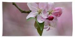 Crab Apple Blossoms Beach Sheet by Ann Bridges