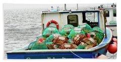 Crab Boat Beach Towel