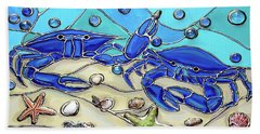 Crab Conversation Beach Towel