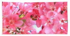 Crabapple Bees 2 Beach Towel
