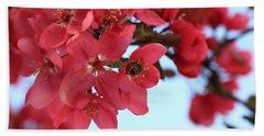 Crabapple Bees Beach Towel