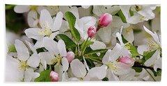 Crabapple Blossoms 5 Beach Sheet