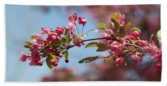 Crabapple In Spring Section 1 Of 4 Beach Towel