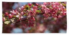 Crabapple In Spring Section 2 Of 4 Beach Towel