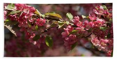 Crabapple In Spring Section 3 Of 4 Beach Towel