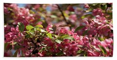 Crabapple In Spring Section 4 Of 4 Beach Towel