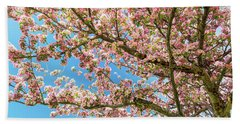 Beach Sheet featuring the photograph Crabapple Tree Pink Spring Blossoms by James BO Insogna