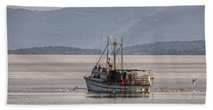 Crabbing Beach Towel by Randy Hall