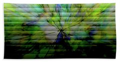 Cracked Abstract Green Beach Towel