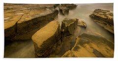 Cracked Seashore Beach Towel