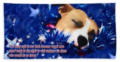 Beach Sheet featuring the photograph Cradled By A Blanket Of Stars And Stripes - Quote by Shelley Neff