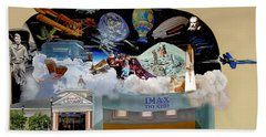 Cradle Of Aviation Museum Imax Theatre Beach Towel