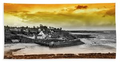 Crail Harbour Beach Towel