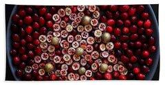 Cranberry Christmas Tree Beach Sheet