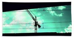Crane And Shadows Beach Sheet